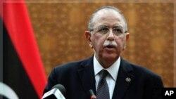 利比亚过渡政府总理凯(资料照)