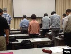 日本民主团体纪念六四25周年(美国之音小玉拍摄)