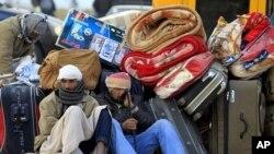 在利比亞邊界地區的難民