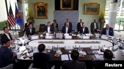美国总统奥巴马在美国加州的安纳伯格庄园主持美国和东盟峰会(2016年2月16日)