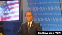 Burmese President Thein Sein visits Voice of America.