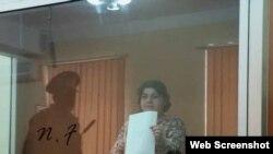 Xədicə İsmayılova (Foto Fərqanə Novruzovanın Facebook səhifəsindən götürülüb)
