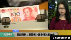 VOA连线(易林):美副财长:要警惕中国市场发展方向