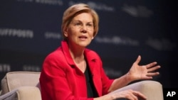 Democratic presidential candidate Sen. Elizabeth Warren, D-Mass., speaks at the Heartland Forum held on the campus of Buena Vista University in Storm Lake, Iowa, March 30, 2019.