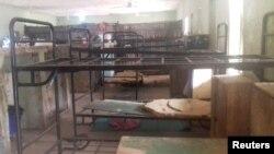 Hostel untuk pelajar putri di sebuah sekolah di Dapchi, timur laut negara bagian Yobe. Belasan pelajar putri di wilayah ini hilang setelah militan Boko Haram menyerang desa tersebut, Nigeria, 22 Februari 2018.