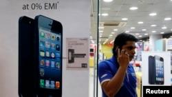 Vệc sở hữu điện thoại di động thông minh gia tăng đáng kể ở Ấn Ðộ.
