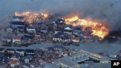 지진으로 인한 강물의 범람에 화재까지 번지고 있는 나토리 시