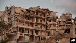 La ville d'Ariha, dans la province d'Idleb en Syrie le 20 septembre 2018.