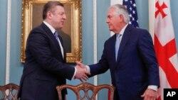 Госсекретарь США Рекс Тиллерсон и премьер-министр Грузии Георгий Квирикашвили