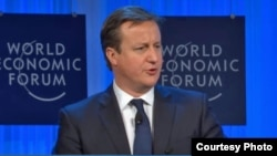 Prime Minister David Cameron of Britain addresses 2013 World Economic Forum Annual Meeting. (Credit: WEC)