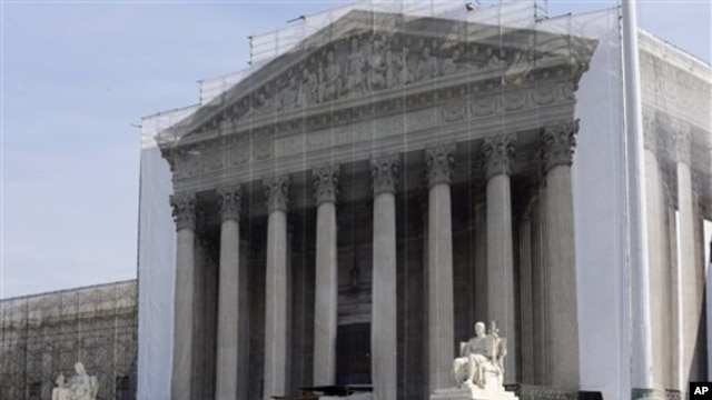 미국 연방대법원. 미 법무부가 요청한 동성결혼금지법 철회를 심리한다.