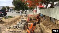 Obras em Benguela