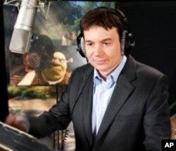"Mike Myers voices Shrek in ""Shrek Forever After"""