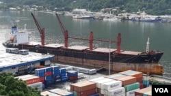대북 제재 위반 혐의로 미국 정부가 압류한 북한 화물선 '와이즈 어네스트' 호.