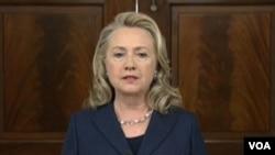 Menlu Clinton berjanji untuk menyeret para pelaku serangan atas konsulat AS di Benghazi, Libya ke pengadilan (foto: dok).