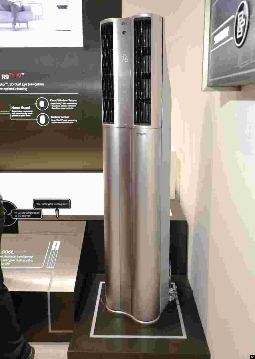 جدیدترین محصولات هوشمند تصفیه هوا شرکت ال جی در نمایشگاه کالاهای الکترونیکی لاس وگاس
