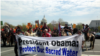 """Native Americans, farmers, ranchers, and cowboys gather outside the Capitol Hill during a """"Reject and Protect"""" rally to protest against the Keystone XL tar sands pipeline, Washington D.C., April 22, 2014. (Diaa Bekheet/VOA)"""