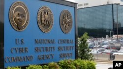 FILE the National Security Administration (NSA) campus in Fort Meade, Maryland, where the U.S. Cyber Command is located. U.S. officials say the Trump administration, after months of delay, is finalizing plans to revamp the nation's military command for defensive and offensive cyber-operations.