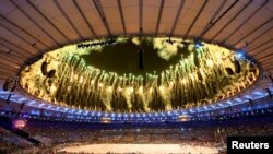 آتش بازی مراسم اختتامیۀ المپیک برازیل