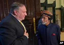 دیدار مایک پمپئو و پادشاه عمان.