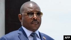 Le président burundais Pierre Nkurunziza à Bujumbura, le 13 octobre 2017.