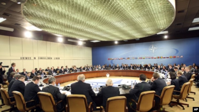 A meeting at NATO's headquarters (file photo)