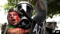 Prizor sa uličnih demonstracija u Grčkoj