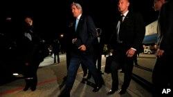 ԱՄՆ-ի արտգործնախարար Ջոն Քերրին ժամանել է Ժնև, 16 ապրիլի 2014 թ.