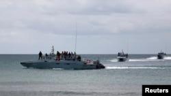 Tàu chiến của Hải quân Hoàng gia Malaysia. Malaysia tố cáo lãnh hải của họ bị các tàu cá Việt Nam xâm phạm nhiều nhất.