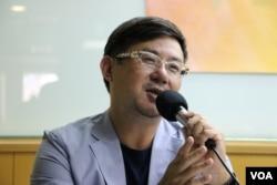 南台科技大學財經法律所助理教授羅承宗(美國之音楊明拍攝)