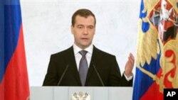 俄羅斯總統梅德韋杰夫星期四發表國情諮文提議放鬆對政黨以及總統候選人登記註冊的要求。