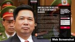 Thỉnh nguyện thư trên mạng của Tổ chức Phóng viên không biên giới (RSF).
