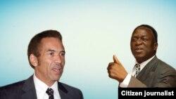 Emmerson Mnangagwa naVaIan Khama