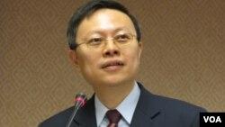 台湾陆委会主委 王郁琦(美国之音 张永泰拍摄)