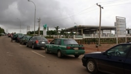One of the few gas stations open in Abuja on August 23, 2012.  Motorists said they waited at least 13 hours to make it to the front of the line.