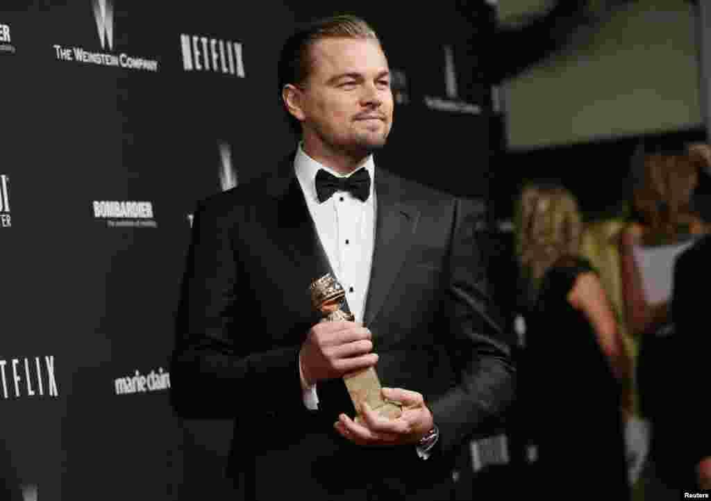 Леонардо ДиКаприо – лучший актер (комедия или мюзикл) «Волк с Уолл-стрит»