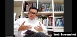 Wakil Ketua Komisi VIII DPR RI, Ace Hasan Syadzily, dalam diskusi daring tentang COVID-19 dan Peran Agamawan di Indonesia, Jumat 22 Mei 2020. (Tangkapan layar).