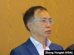 新台湾国策基金会咨询委员董立文(美国之音张永泰拍摄)