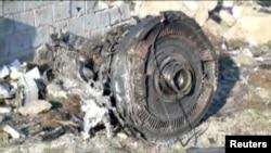 Один з двигунів літака рейсу PS752