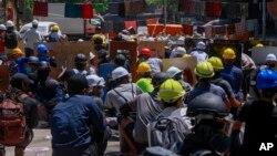 2021年4月4日缅甸仰光抗议示威