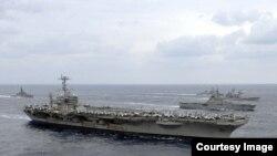 美國海軍喬治華盛頓號核動力航空母艦 (資料圖片)