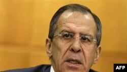 Ngoại trưởng Nga Sergey Lavrov phát biểu trong cuộc họp báo tại Moscow, ngày 13/1/2011