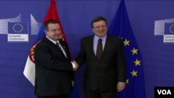 Ivica Dačić i Žoze Manuel Barozo, Brisel, 26. jun 2013.