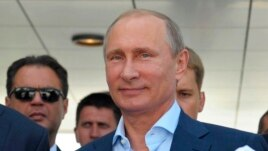 Russian President Vladimir Putin during a meeting in the Russian Black Sea resort of Sochi, Russia, Aug. 12, 2014.