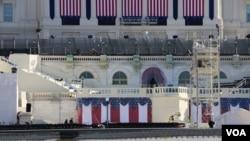 Le Capitole où se tiendra la cérémonie d'investiture de Donald Trump .