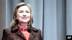 Hillary Clinton, Waziri wa Mambo ya Nje wa Marekani akizinduzi Siku ya Wanawake Duniani.