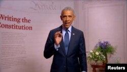 سابق صدر براک اوباما نے الزام لگایا ہے کہ صدر ٹرمپ اپنی طرزِ سیاست کی وجہ سے جمہوریت کو خطرے میں ڈال رہے ہیں۔