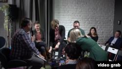 Tribina o vladavini prava koju su organizovale beogradska Crta i podgorička Politikon mreža, u Begradu, 19. novembra 2019.
