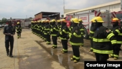 Firefighting equipment exported the W.S. Darley Company of Chicago to Lagos, Nigeria. (Courtesy of Darley Company)