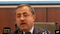 Menteri Dalam Negeri Suriah, Mohammed al-Shaar (Foto: dok). Mohammed al-Shaar dikabarkan tengah dirawat di Rumah Sakit American University di Beirut akibat terluka saat serangan bom di Damaskus pekan lalu.